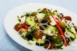 Salad with tomato, brynza cheese, onion and cucumber, sopska salata