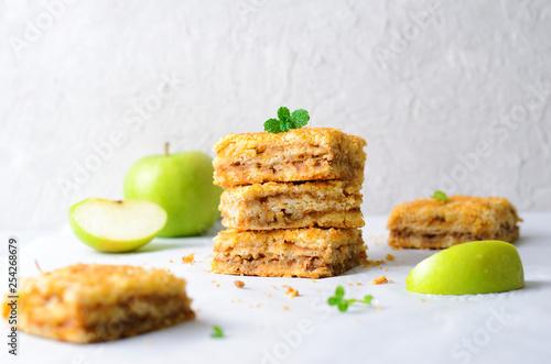 Apple Pie Bars, Crumble Cake, Homemade Dessert
