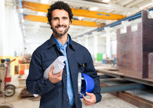 Smiling worker portrait