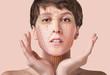 Leinwanddruck Bild - Young female with clean fresh skin
