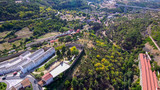 Fototapeta Do pokoju - Salamanca. Aerial view in village of Bejar. Spain. Drone Photo © VEOy.com