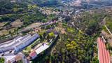 Fototapeta Miasto - Salamanca. Aerial view in village of Bejar. Spain. Drone Photo © VEOy.com