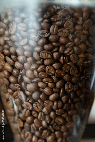 Grinder with coffee beans