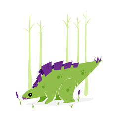 Vector Stegosaurus Illustration