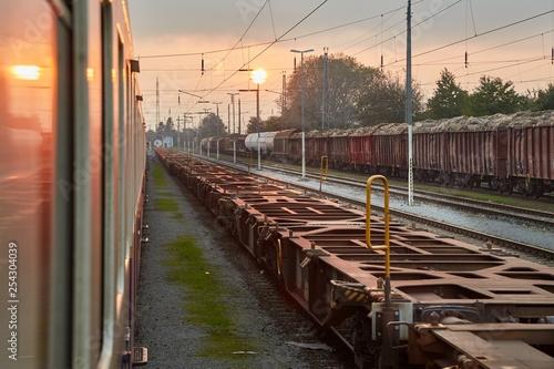 Train Journey at Dusk