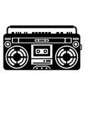 musik Ghettoblaster player retro party feiern 80er 90er 70er rapper gangster laut club disko dj spielen kasten groß boxen radio kassette cd alt opa tanzen clipart