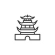 Chinese pagoda building line icon. linear style sign for mobile concept and web design. Chinese Temple Architecture outline vector icon. Travel symbol, logo illustration. Pixel perfect vector graphics