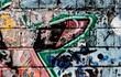 Old broken graffitiwall