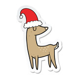 sticker of a cartoon christmas reindeer