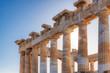 Ancient columns of Parthenon temple in Acropolis, Athens, Greece.
