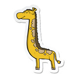 sticker of a cartoon giraffe