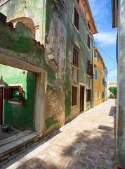 Street scene in Osor town, Losinj island, Croatia.