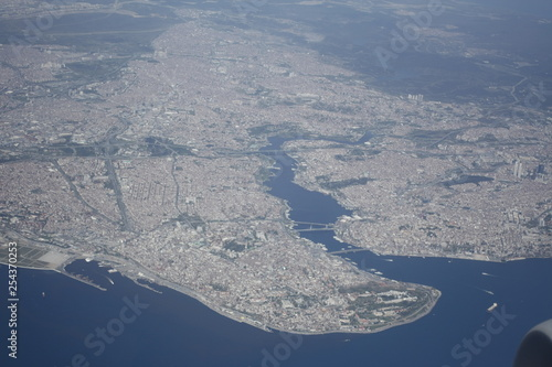 aerial view of Istanbul turkey - 254370253