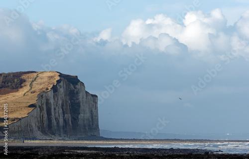 Criel sur mer cliffs in Normandy coast