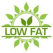 Leinwanddruck Bild - Low Fat Green Badge Circular Leaves