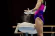 gym chalk for grips hands woman gymnast in artistic gymnastics