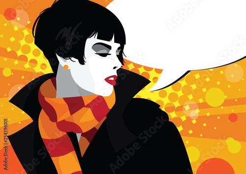 Fashion woman in style pop art. © Yevhen