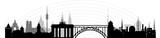 Orient Okzident Brücke skyline // Vektor
