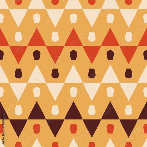 obraz lub plakat Seamless pattern with geometric ornament.