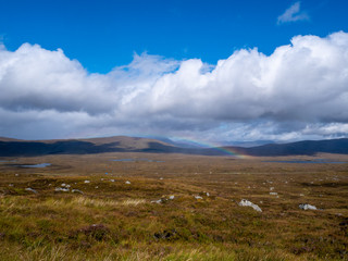rainbow in a moor landscape