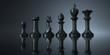 Stone Chess Pieces Dark Background