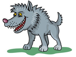 coloring pages for childrens with funny animals, wolf