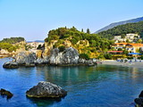 Greece-view on the Piso Krioneri beach and Parga