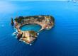 Leinwandbild Motiv Aerial view of Islet of Vila Franca do Campo near San Miguel island, Azores - Portugal.