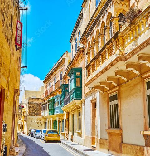 The medieval streets of Rabat, Malta - 254421260