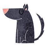 quirky retro illustration style cartoon dog