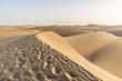 Leinwanddruck Bild - Sand dunes of Maspalomas with patterns from the wind