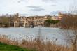 Paisaje en la rivera de un río en Castilla España