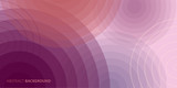 Abstract pink and purple wave diverging circles vector background for parallax effect scrolling landing page.