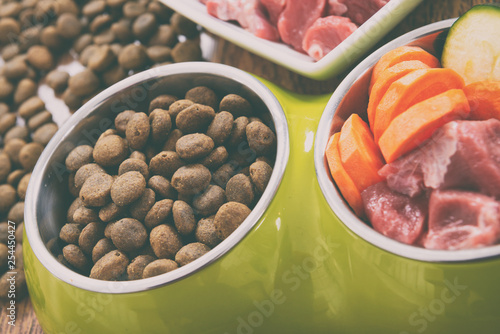 Natural and dry dog's food - 254450427
