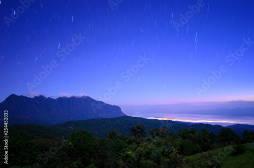 obraz PCV Star on the mountains