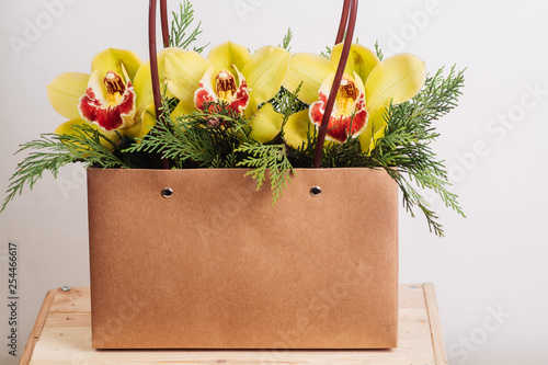 Bouquet of orchid flowers - 254466617