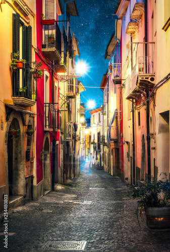 street in campobasso, italy - 254480803