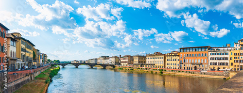 Florence on the day of the river and bridge - 254488869