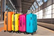 Luggage bags on background, travel concept - 254501252