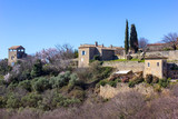 View on a part of the small French village Gordes in Provence