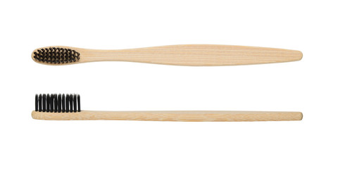 Natural bamboo toothbrush isolated on white background © Anatoliy Sadovskiy