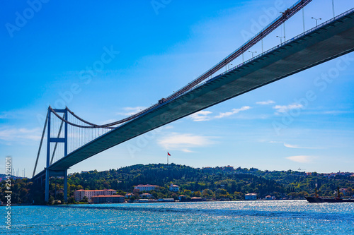 Panorama of the city of Istanbul from the Golden Horn bay on the slopes of the city. - 254521001