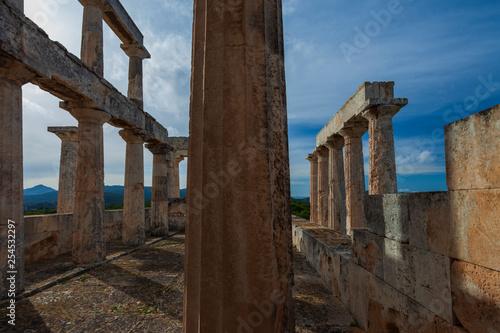 Templo de Afaya en Egina. Golfo Sarónico, Grecia
