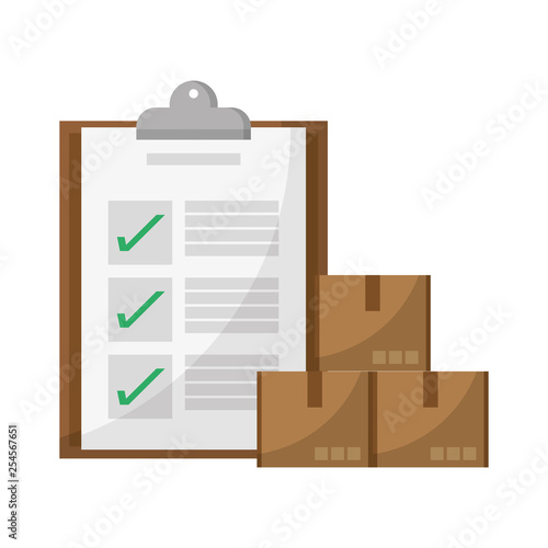 delivery checklist and boxes