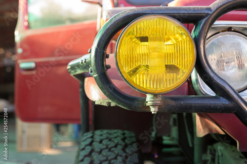 headlight of strong off-road car - 254572048