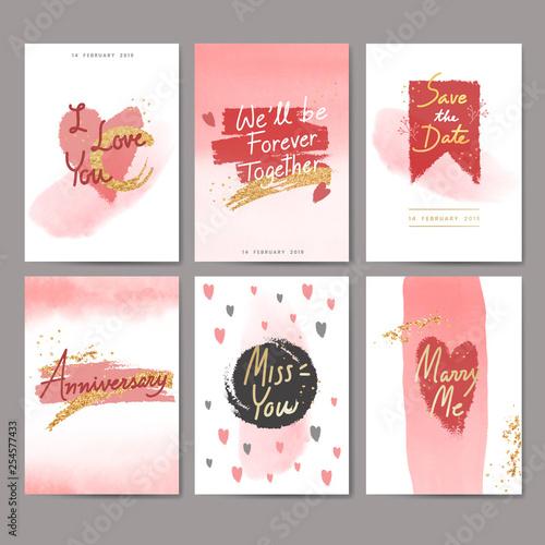 Sweet valentine card design