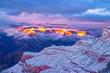 Beautiful Sunrise to Sunset Hike Through Grand Canyon National Park in Arizona - 254597654