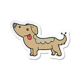 sticker of a cartoon dog