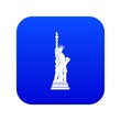 Statue of liberty icon digital blue for any design isolated on white vector illustration