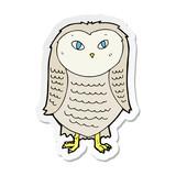 sticker of a cartoon owl
